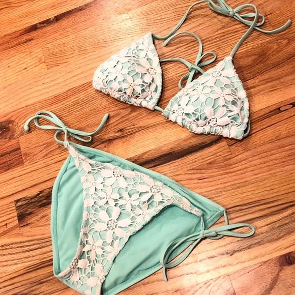b300c9f95 Xhilaration Swim | Crochet Bikini Size Sm | Poshmark
